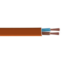 Câble électrique méplat H03VHH2F section 2x0,75mm² coloris marron en bobine de 10m - Gedimat.fr