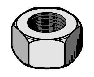 Ecrou pour crochet IPN DIAM.8 S*diam.8mm en boîte de 100 pièces - Gedimat.fr