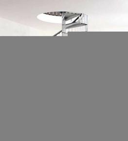 Escalier hélicoïdal kit CIVIK diam.1,20m haut.2,52/3,05m finition gris - Gedimat.fr
