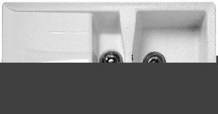 Evier à encastrer 1 bac 1/2 + 1 égouttoir MIDWAY en SMC larg.50cm long.86cm blanc - Gedimat.fr