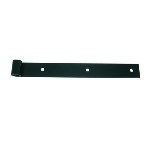 Penture droite bout carré en acier long.80cm cataphorèse finition zinguée noir - Gedimat.fr