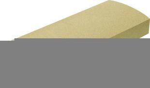 Lisse gamme OCEANE plate 25 long.49.5cm larg.24,5cm ép.8cm pour balustrades ROYAN coloris blanc - Gedimat.fr
