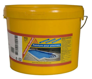 Rev tement de piscine sikagard poolcoat blanc bidon de 10l for Sika enduit piscine
