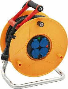 Enrouleur prolongateur STANDARD PRO avec câble 25m HO7 RN-F 3G2,5 et disjoncteur thermique - Gedimat.fr