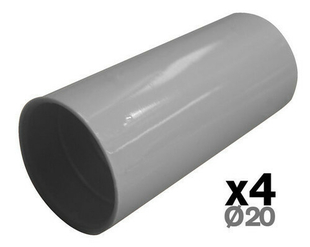 Manchon pour tube IRL diam.20mm coloris gris en sachet de 4 pièces - Gedimat.fr