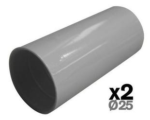 Manchon pour tube IRL diam.25mm coloris gris en sachet de 2 pièces - Gedimat.fr