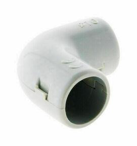 Coude pour tube IRL diam.16mm coloris gris en sachet de 4 pièces - Gedimat.fr
