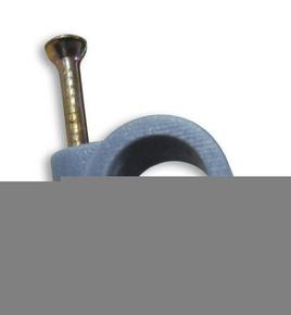 Attache cavalier plastique à clouer coloris gris pour câble rond diam.14mm en sachet de 20 pièces - Gedimat.fr