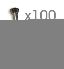 Attache cavalier plastique à clouer coloris blanc pour câble rond diam.9mm en sachet de 100 pièces - Gedimat.fr