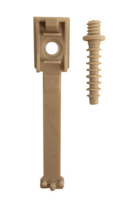 Attache câble clipsable avec cheville diam.16 à 20mm en sachet de 10 pièces - Gedimat.fr