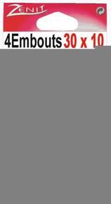 Embout pour moulure larg.30mm haut.10mm coloris blanc en sachet de 4 pièces - Gedimat.fr