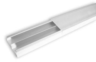 Moulure de distribution pour câble électrique larg.40mm haut.17mm coloris blanc long.2m - Gedimat.fr