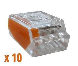 Borne de connexion électrique automatique capacité 3 conducteurs diam.1 à 2,5mm² en sachet de 10 pièces - Gedimat.fr