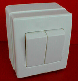 Interrupteur ou va et vient double pour pose en saillie série BEJING 10A coloris blanc - Gedimat.fr
