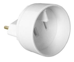 Adaptateur mâle standard européen / femelle standard américain 2P 16A coloris blanc - Gedimat.fr