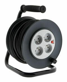 Enrouleur électrique 3G1,5mm² long.25m + 4 prises - Gedimat.fr