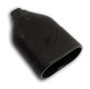 Prolongateur électrique plastique femelle 2 pôles 6A coloris noir - Gedimat.fr