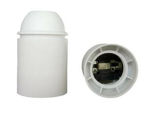 Douille électrique thermoplastique lisse culot à visser E27 coloris blanc - Gedimat.fr