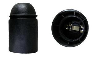 Douille électrique thermoplastique lisse culot à visser E27 coloris noir - Gedimat.fr