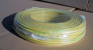 Câble électrique rigide unifilaire H07VU diam.6mm² coloris vert/jaune en couronne de 5m - Gedimat.fr