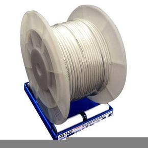 Câble électrique méplat double isolation H05VVH2F section 2x0,75mm² coloris blanc vendu à la coupe au ml - Gedimat.fr