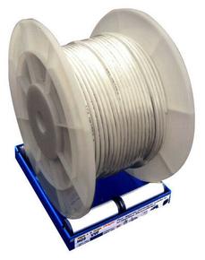 Câble électrique méplat double isolation H05VVH2F section 2x1mm² coloris gris vendu à la coupe au ml - Gedimat.fr