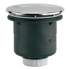 Bonde de douche à capot avec sortie verticale pour receveur percé en diam.90mm - Gedimat.fr