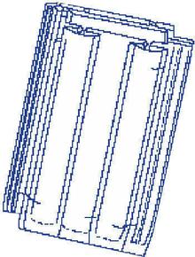 Tuile de verre PV10 HUGUENOT FENAL long.46cm larg.30cm - Gedimat.fr