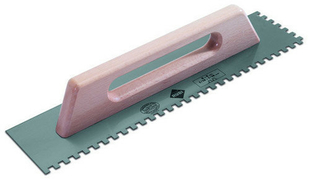 Peigne à colle à poignée long.48cm larg.12cm denture carrée 10x10mm - Gedimat.fr