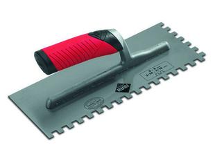 Peigne à colle à poignée RUBIFLEX larg.12cm long.28 cm denture carrée 8x8mm - Gedimat.fr