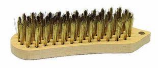 Brosse métallique manuelle forme violon 200x60 acier laitonne 5 rangs - Gedimat.fr