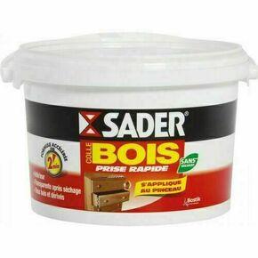 Colle à bois prise rapide vinylique d'assemblage et de placage Sader en seau de 2,5kg - Gedimat.fr