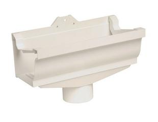 Naissance centrale à dilatation pour gouttière PVC corniche moulurée NICOLL ELITE sortie diam.80mm coloris blanc - Gedimat.fr