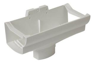Naissance centrale à dilatation pour gouttière PVC corniche moulurée NICOLL OVATION 28 NAD289B sortie pour tuyau diam.90x56mm coloris blanc - Gedimat.fr