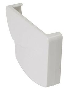 Fond droit pour gouttière PVC moulurée NICOLL OVATION 28 FD28B coloris blanc - Gedimat.fr
