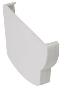 Fond de naissance gauche pour gouttière PVC moulurée NICOLL OVATION 28 FGC28B coloris blanc - Gedimat.fr
