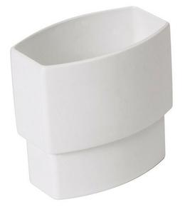 Manchette pour tube de descente de gouttière NICOLL OVATION TD95 section 90x56mm ZNGTB mâle femelle coloris blanc - Gedimat.fr