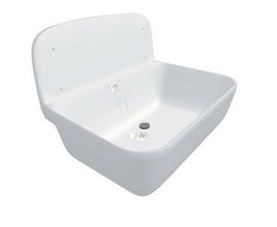 Poste d'eau PVC blanc Nicoll avec dosseret larg.495mm profondeur 345mm haut.totale 348mm coloris blanc - Gedimat.fr