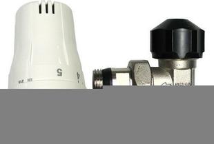Robinet thermostatique équerre mâle femelle égal acier nickelé gamme confort diam.12x17mm - Gedimat.fr