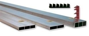 r gle de ma on 1 voile section aluminium larg. Black Bedroom Furniture Sets. Home Design Ideas