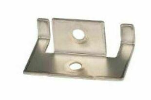 Clips inox de début et de fin pour lames de terrasse en bois composite FOREXIA & ATMOSPHERE + vis 10 pièces - Gedimat.fr