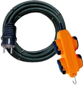Rallonge POWERBLOCK avec câble 5m RN-F 3G1,5 - Gedimat.fr