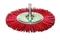 Brosse nylon circulaire diam 75 ep.9 fix.6x30 grain rouge - Gedimat.fr