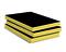 Laine de verre en panneau FACADE NOIR 38P revêtue voile de verre noir 1 face ép.100mm larg.60cm long.1,35m - Gedimat.fr