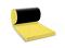 Laine de verre en rouleau PLATEAU NOIR 40R revêtue d'un voile de verre noir ép.70mm larg.40cm long.12,00m - Gedimat.fr