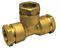 Té laiton égal femelle pour tube polyéthylène diam.20mm avec lien 1 pièce - Gedimat.fr