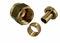 Raccord laiton droit femelle diam.15x21mm pour tube polyéthylène réticulé PER diam.12mm sous coque de 2 pièces - Gedimat.fr