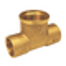 Té laiton brut 130GCU à souder diam.14mm sortie à visser diam.15x21mm 1 pièce sous coque - Gedimat.fr