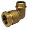 Coude laiton mâle à visser diam.15x21mm pour branchement tube polyéthylène diam.20mm avec lien 1 pièce - Gedimat.fr