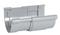 Jonction de dilatation pour gouttière PVC demi-ronde LG25 coloris gris - Gedimat.fr